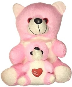 COST TO COST PINK MOTHER TEDDY  - 20 cm