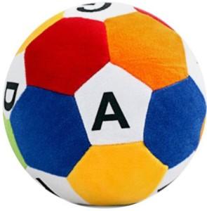 MGPLifestyle Multicolor Soft Fur ABCD Ball - 30cm  - 10 cm