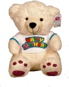 benny n bunny teddy bear with happy birthday t shirt 35 cm 35 cm