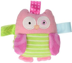 Taggies Mary Meyer Oodles Owl Plush Rattle  - 8 inch