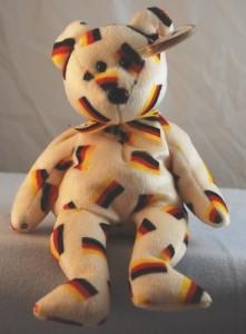 Ty Beanie Ba Deutschland The Bear (W/ Black Nose)