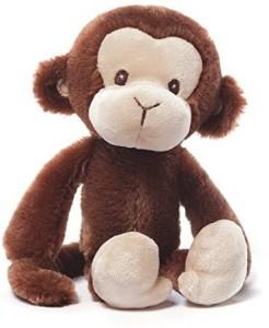 Gund Ba Nicky Noodle Monkey Ba Rattle