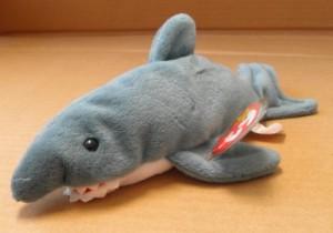 Ty Beanie Babies Crunch The Shark Animal Plush 9 Inches Long