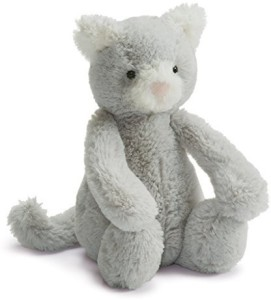 Jellycat Bashful Kitty Grey And White Small