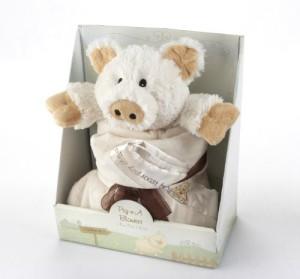 Baby Aspen Pig-n-A Blanket 2-Piece Gift Set  - 20 inch