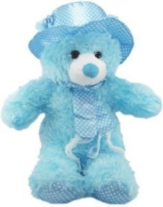 Cuddles Cap teddy Blue  - 45 cm