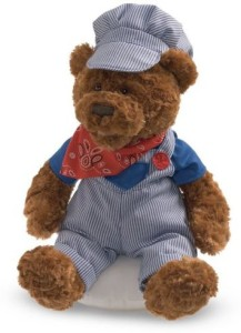Gund Fun Lil Sprout Railroad Bear Sings Song And Moves
