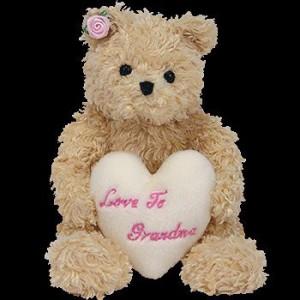 Ty 1 X Beanie Ba Dear Heart The Bear (Hallmark Gold Crown