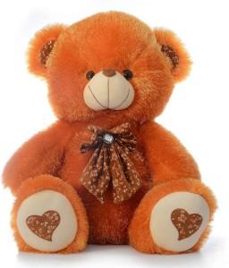 Cuddles Stuffed Bear With Bow  - 45 cm