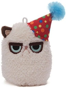 Gund Grumpy Cat Mini Plush (Birthday), 4