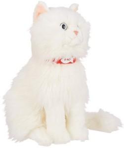 FAO Schwarz 10 Inch Plush Persian Cat White