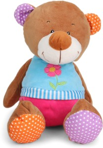 Starwalk Bear Plush with Flower 25 cm  - 25 cm
