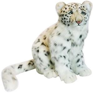 Hansa Snow Leopard Cub Plush Animalsitting