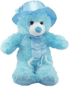 Cuddles Collections Cap teddy Blue  - 85 cm