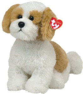 TY Classic - Barley - Beige dog with White dog with White  - 20 inch