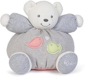 Kaloo Zen Medium Bear With Bird And Fish Applique