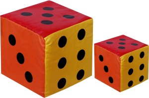 Atpata Funky Big and Small Dice (Pack of 2)  - 8 inch