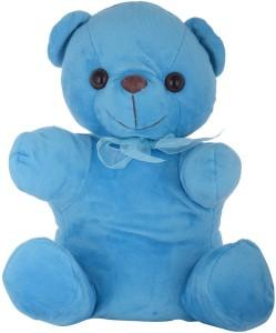 Twisha Bear Sitting Blue Medium 12 x 14 x 25 Cms  - 25 cm