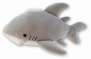 Puzzled Plush Shark Huggie Bank