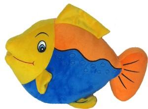 Soft Buddies Fish Orange & Blue  - 13 inch