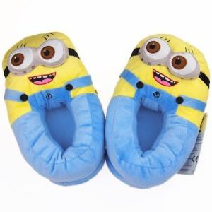 MINION Despicable Me Plush Two Eye Doll Soft Slipper Shoes