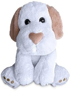 Build A Furry Friend Heart Nosed Dog Cuddly Soft White Plush 16 Inch Animal