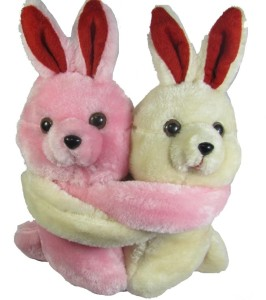 Tickles Couple in Arms Rabbit  - 6.5 inch
