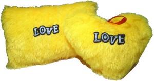 De Hoy-Hoy Set Of 2 Heart Shape Love Soft Cushion Pillow Teddy Bear Valentine Love Gift - 8 Inch  - 35