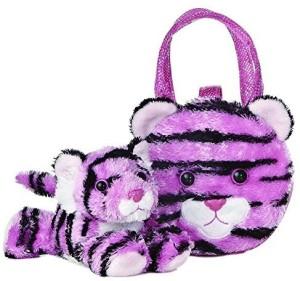 Aurora World 32694 Fancy Pals Pink Tiger Plush Pet Carrier