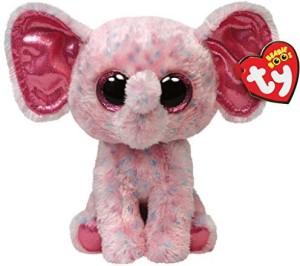 Ty Beanie Boos Ellie Pink Speckled Elephant Regular Plush  - 25 inch