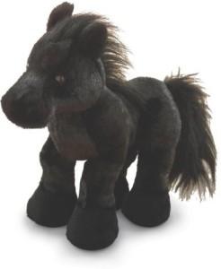 Webkinz Black Stallion Friesian Horse