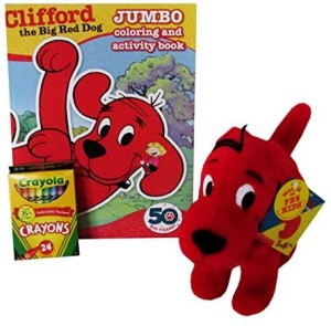 Mixed Clifford The Big Red Dog Plush Activity Set (3 Piece Bundle)