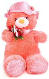 Tickles Gorgeous Cap Teddy With Rose  - 70 cm