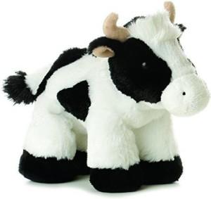 Aurora Plush Mini Moo Cow Flopsie 8