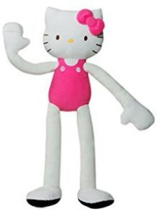Stretchkins Hello Kitty Life-size Plush Toy That You Can Play, Dance, Exercise and Have Fun With - Pink  - 20 inch