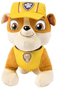 Paw Patrol Deluxe Lights and Sounds Plush - Real Talking Rubble  - 20 inch