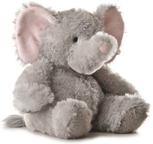 Aurora Plush 12 inches Elephant Tubbie Wubbie (Light Grey)  - 20 inch