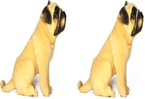 SS MART Combo pack of Two Pug Dog Soft Toys  - 25 cm