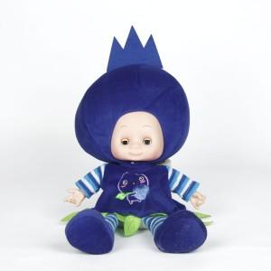 V Golly Jolly Nx Fruit Baby Doll Blue  - 50 cm