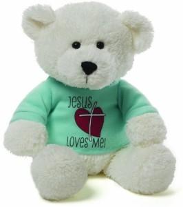 Gund Jesus Loves Me Tshirt Bear Plush