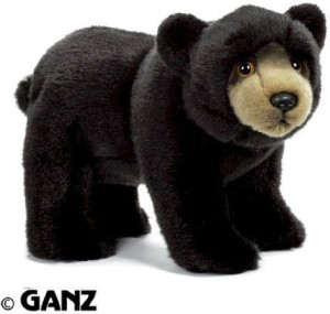 Webkinz Signature Small Black Bear With Trading Cards
