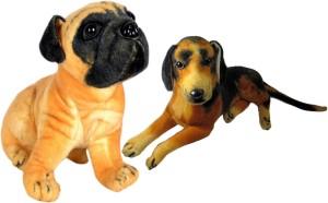Alexus Pug Dog And Sitting Dog  - 32 cm