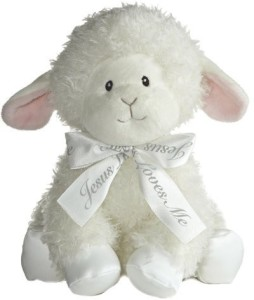 Aurora Baby Blessings Wind Up Musical Plushlamb