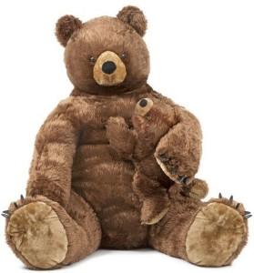 Melissa & Doug Brown Bear And Cub Plush