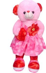 Kashish Trading Company KTC Pink Fur Teddy  - 15 inch