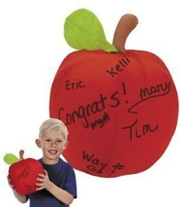 Oriental Trading Company Plush Autograph Apple Novelty& Plush