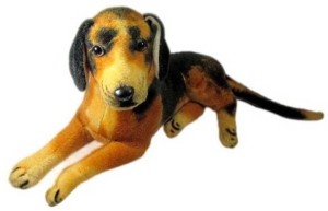 Deals India Imported Sitting Dog Stuffed Soft Toy  - 40 cm