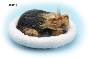 BlowOutBarn Yorkshire Terrier Plush Breathing Dog With Bed Adopt A Pet