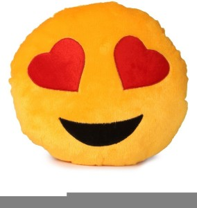 Dream Deals Smily Cusion With Heart Eyes  - 35 cm