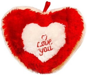 Lata Cute I love You Heart with Music and 2 LED Light  - 30 cm